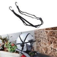 90cm Universal Motorrad Helm Riemen Motorrad Festigkeit Versenkbare Gepäck Elastische Seil Strap Gepäck Tasche