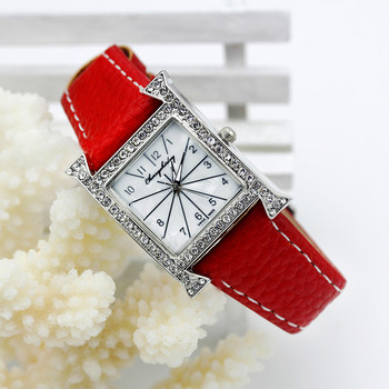 Casual Female square shaped WristWatch Leather Rhinestone Designer Ladies Clock women Dress Montre Luxury Quartz Crystal watch ladies fashion quartz watch women rhinestone leather casual dress women s watch crystal clock reloje mujer 2016 montre femme