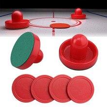 Красное хоккейное оборудование, настольные игровые шайбы, шайба 60 мм 51 мм 60 мм, аксессуары для молотка, вратаря воздуха