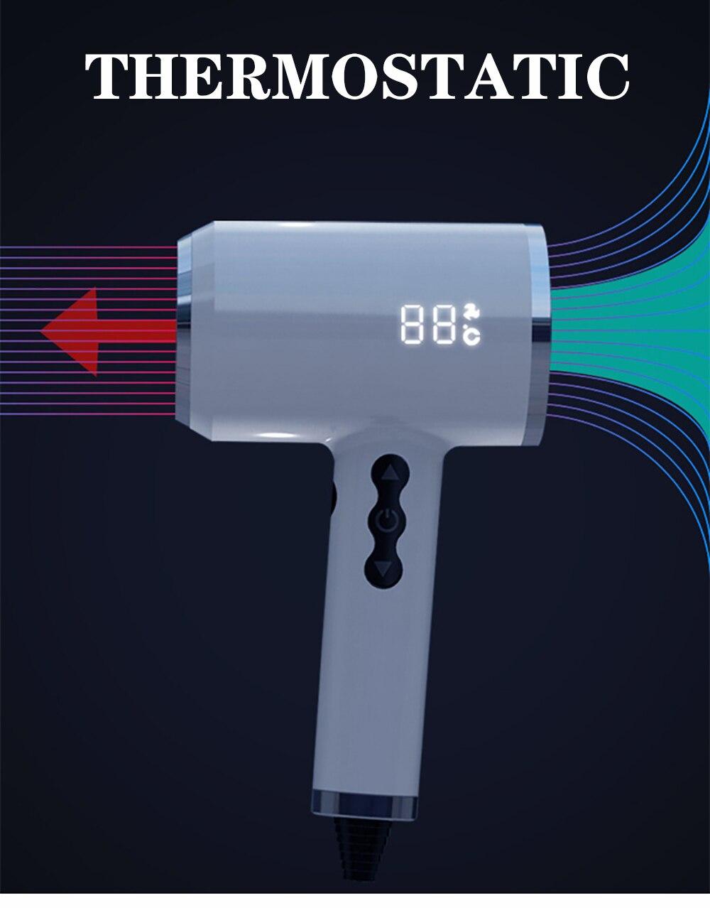 Profissional 1800w secador de cabelo quente e