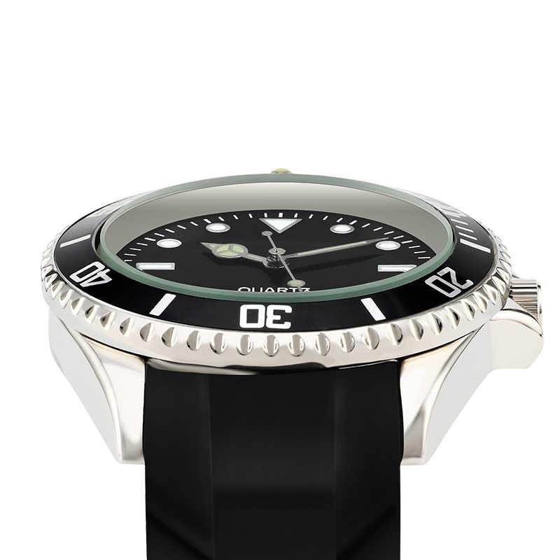 Modne męskie zegarki genewa silikonowy zegarek kwarcowy luksusowej marki analogowy gumowy zegarek sportowy wodoodporny zegar męski Relogio Masculino