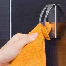Точечная прочная самоклеящаяся вешалка для полотенец из нержавеющей стали, полукруглая стена для предотвращения настенных полотенец для ванной комнаты