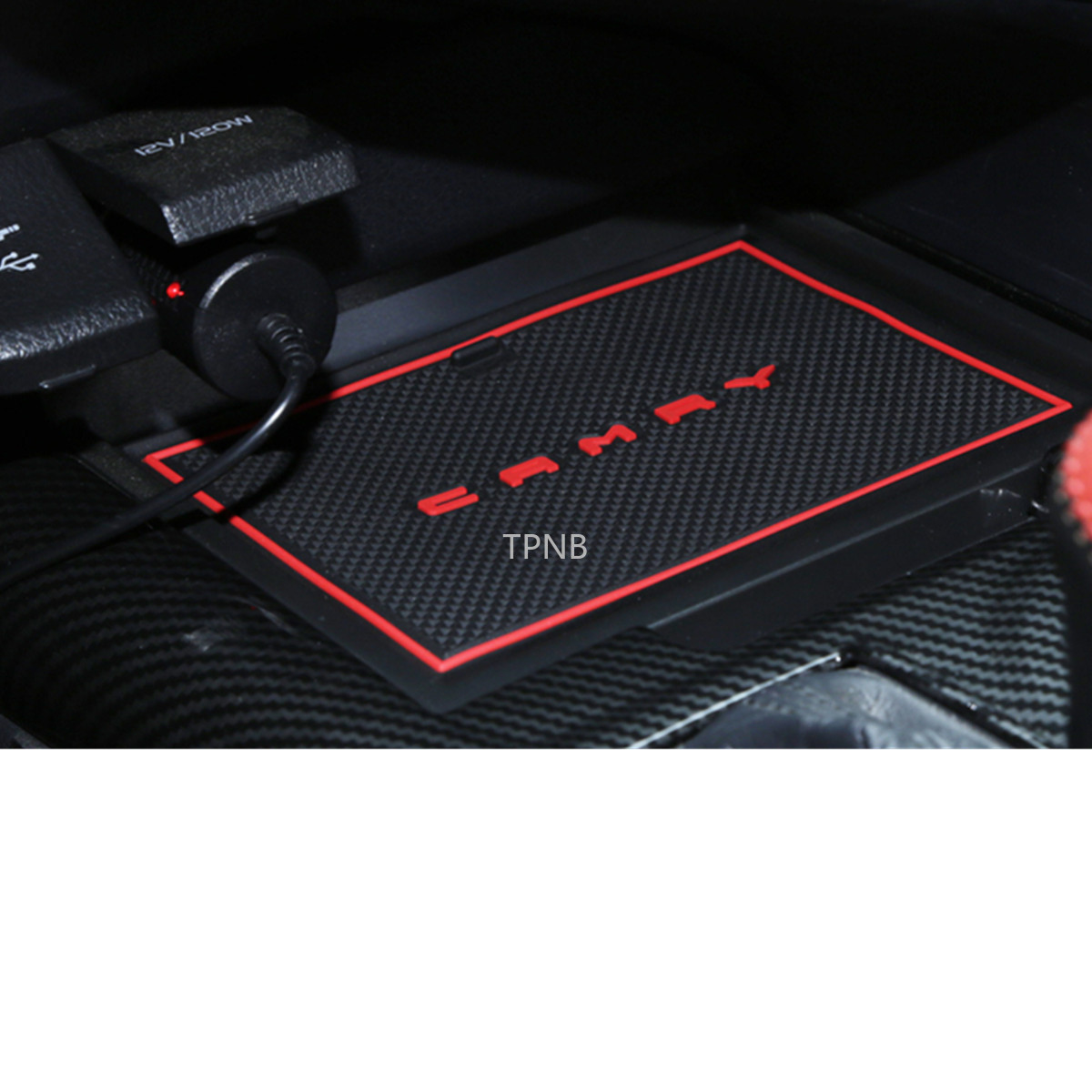 For Toyota Camry 2018 8th XV70 Car Styling Interior Door Cushion Non-slip Mat Rubber Material Accessories