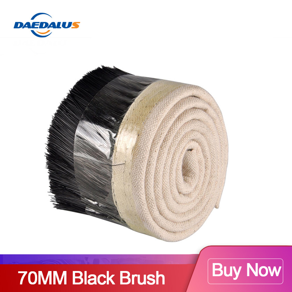 1M X 70mm Brush Vacuum Cleaner Engraving Machine Dust Collector Cover For CNC Spindle Motor