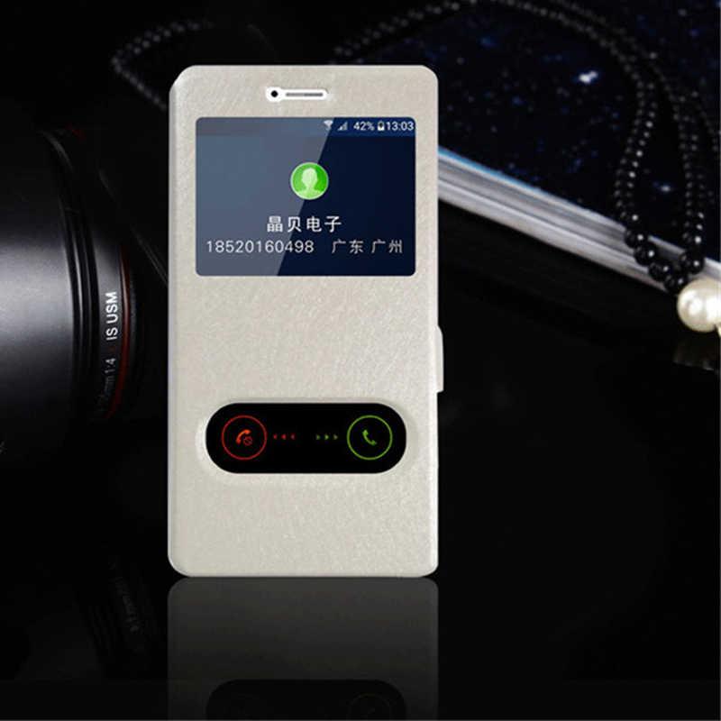 لسامسونج A5 2017 سريع الإجابة إطار عرض الوجه كوكه حقيبة لهاتف سامسونج غالاكسي A5 2017 غطاء الهاتف حالات Hoesje A520