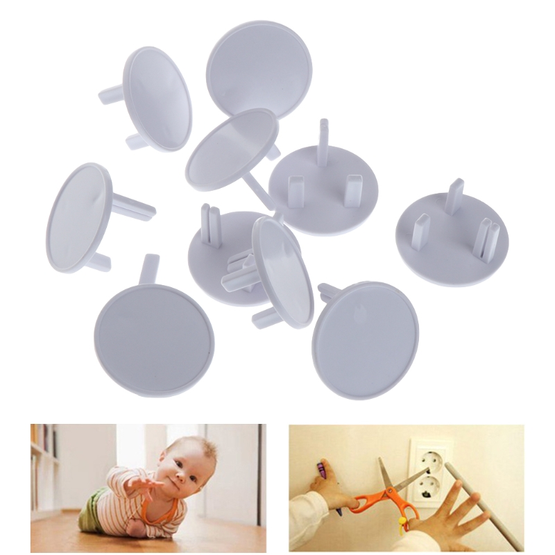10Pcs UK Power Socket Outlet Mains Plug Cover Baby Child Safety Protector Guard Y4QA