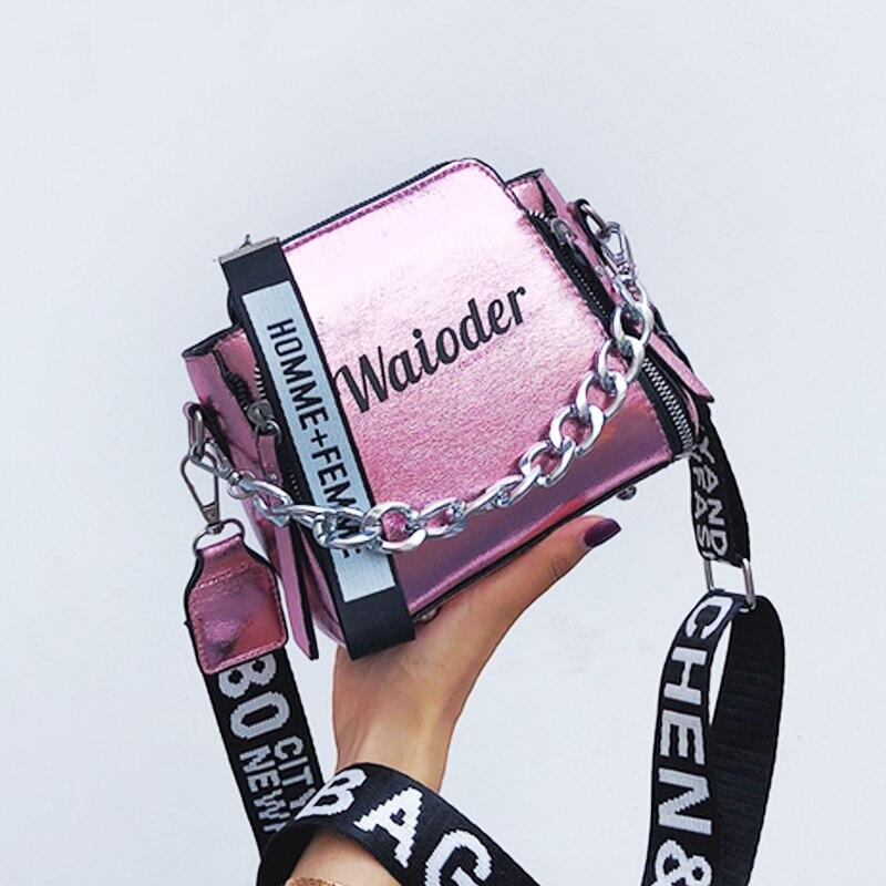 Women Letter Shoulder Bag INS Popular Female Handbag Holiday PU Messenger Bags For Lady Design Exquisite Crossbody Bucket