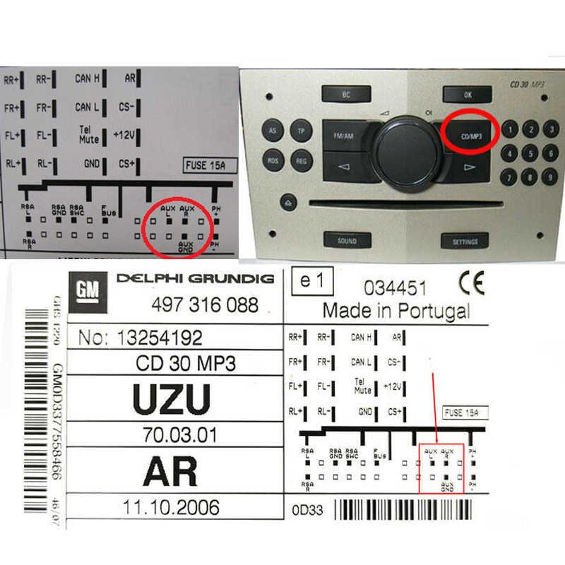 Modulo Bluetooth AUX Ingresso CD Changer Cavo Per Opel CD30 MP3 CD70 DVD 90 NAVI CDC40 OPERA PER Opel Agila antara Astra Combo