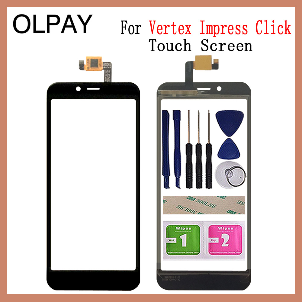 OLPAY 5.0'' Phone Mobile Touch Screen For Vertex Impress Click Touch Screen Glass Digitizer Panel Lens Sensor Glass Repair