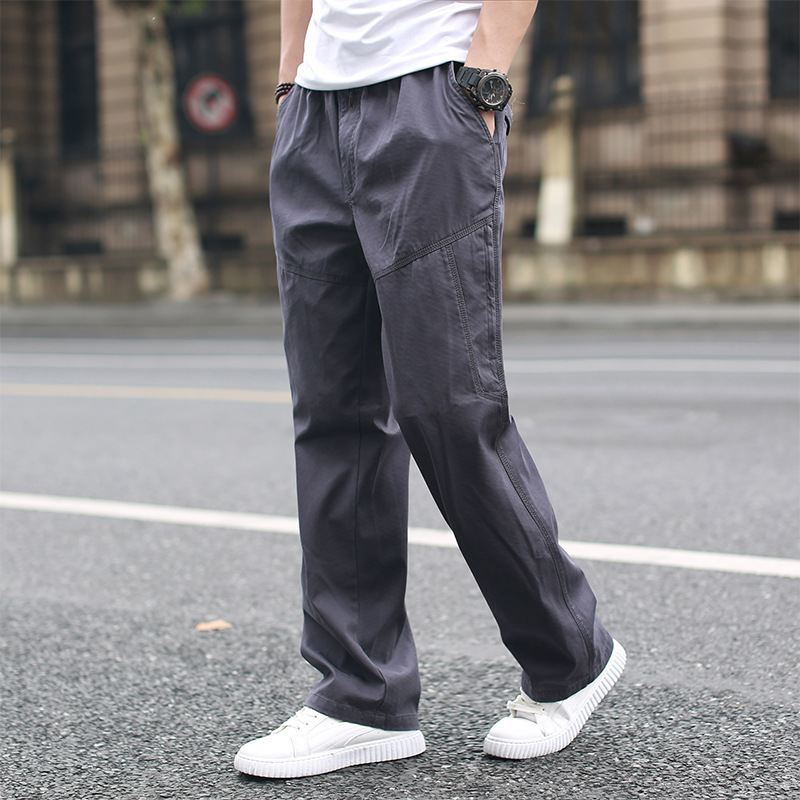 Autumn New Style Bib Overall Men's Loose-Fit Men's Trousers Plus-sized Casual Pants Men's Thick-Youth Multi-pockets Gymnastic Pa