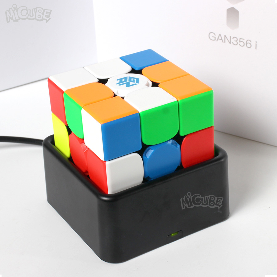 GAN356 i Cube de vitesse magique magnétique 3x3x3 GAN356i Station de Cube App GAN 356i aimants Cubes de compétition en ligne GAN 356 - 3