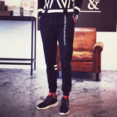 Japanese-style Origional MEN'S Casual Pants Men's Skinny Pants 2017 Men's Trousers Sports Ankle Banded Pants Summer MEN'S Trouse