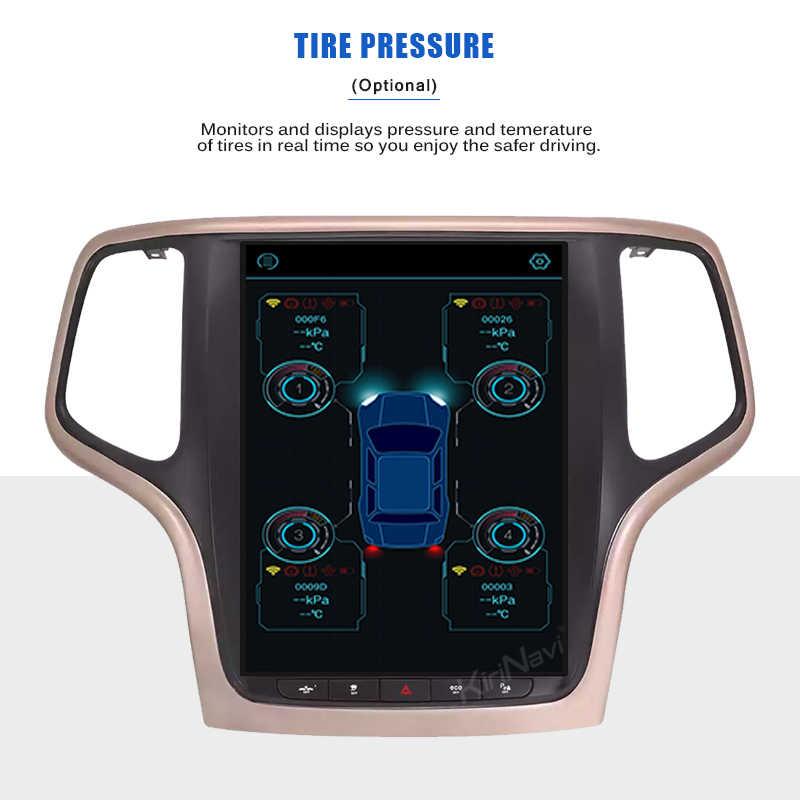 """Pantalla Vertical de estilo Tesla de 10,4 """"1 Din Android 9,0 de KiriNavi, DVD para coche, navegación GPS automática, Radio para coche para Jeep Grand Cherokee 2014 +"""