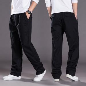 Image 2 - Harem tactica calças dos homens marca 2018 verão flacidez calças de algodão calças masculinas plus size calça esportiva dos corredores pés pantsL 6XL