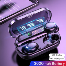 8D Wireless Earphone Bluetooth V5.0 Sports Wireless LED Display Touch Control St