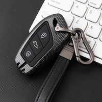 Aleación de Zinc + gel de sílice textura llave de coche para Roewe RX5 i6 ERX5 i5 RX8 RX3 para MG6 MG ZS EV EZS HS EHS 3 botón AUTO Accesorios
