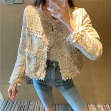 Coats and jackets women 2019 long sleeve fashion casual jacket Solid Spliced Tassel Pockets O-Neck Open Stitch female 0370