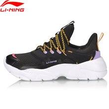 Li-ning mulher ln shaka clássico sapatos meias-como forro leve macio sapatos esportivos à moda tênis de lazer agcp162