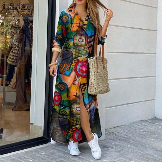 glamourous print dress, striking and fun  2