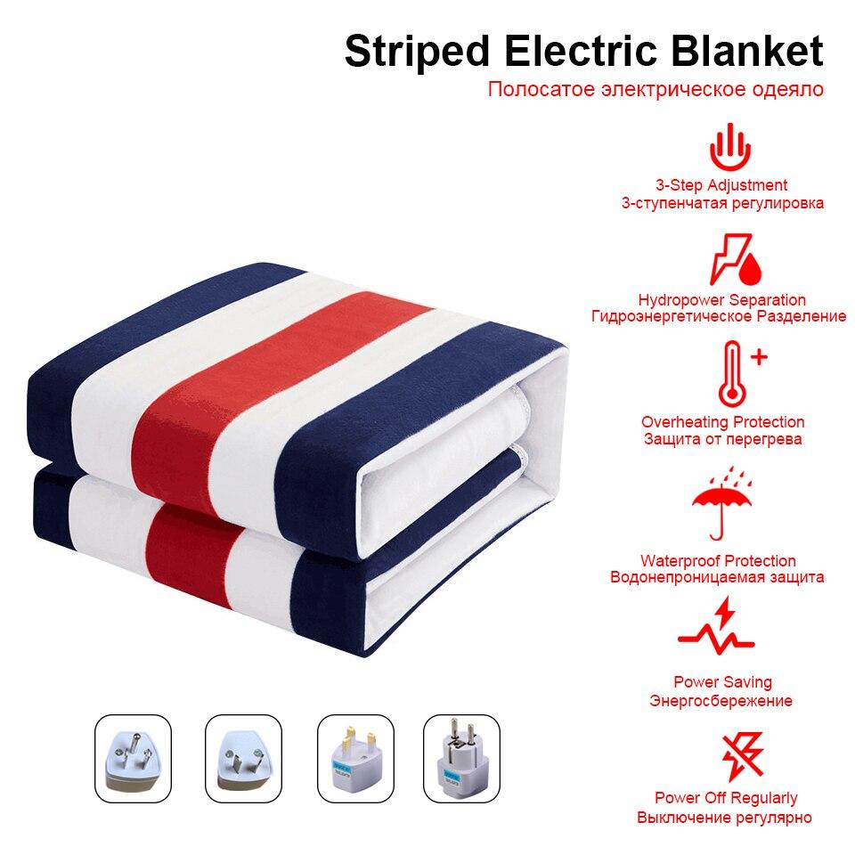 Одеяло с подогревом 220 В 2 тела 150*180 см двойное управление электрическое одеяло маленькая печать Манта электро кровать грелка Pad|Электроодеяла|   | АлиЭкспресс - Товары для крепкого сна