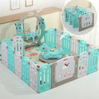 Foldable Baby Playpens Indoor Kids Game Fence Children Play Fence Kids Activity Gear Environmental Protection Safety Play Yard