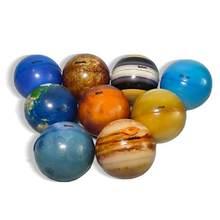 6.3cm huit planètes lune étoile balle jouet coloré gonflable éponge élastique impression étoile balle enfants jouet éducatif cadeau