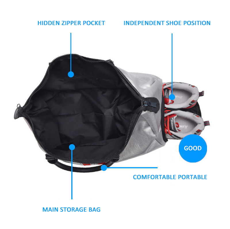 Waterproof Gym Shark Bag Women Nylon Sport Camping Fitness Fishing Huntin Training Yoga mats Bagage Backpacks Shoes Compartment