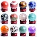 1 шт. 28-30 мм натуральный аметист обсидиановый камни кристалл шар подставка Драгоценный Камень кварцевый Глобус пьедестал исцеляющий Декор д...