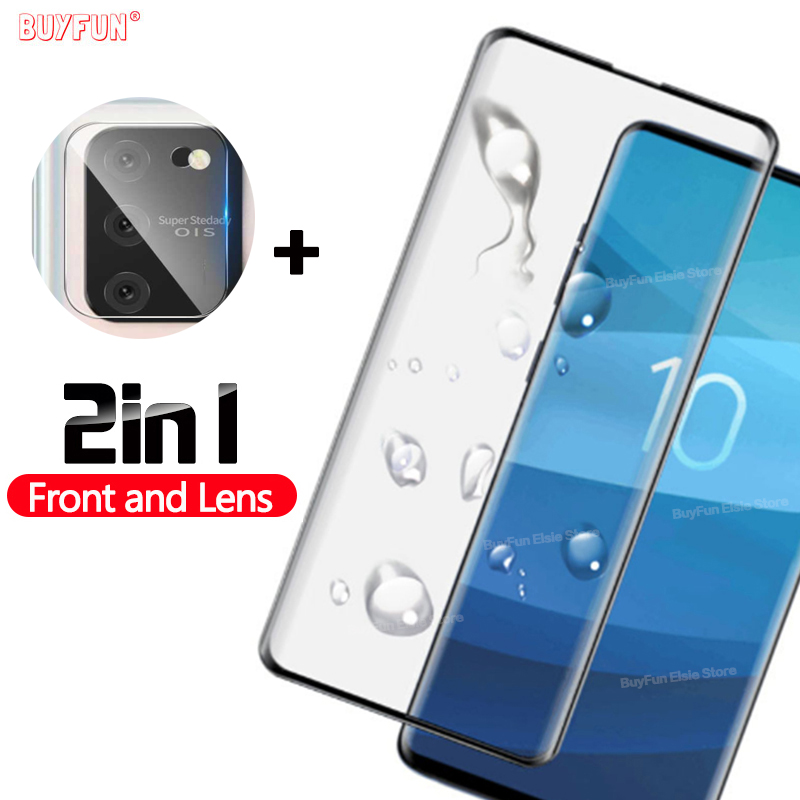 2 In 1 Tempered Glass For Samsung Galaxy S10 Note 10 Lite 10Lite Note10Lite S10Lite 6.7'' Screen Protector Protective Glas