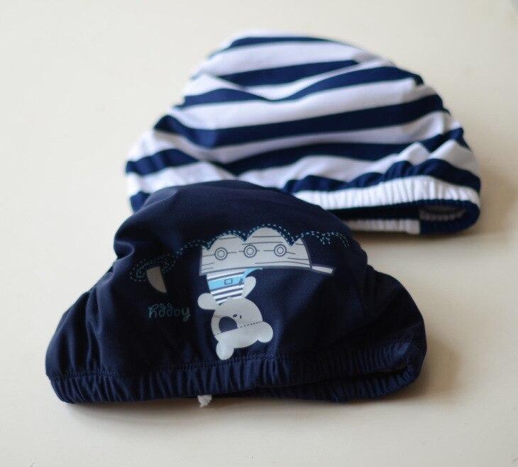 Blue Plain Color Cartoon Bear Children Diaper Pants Cute Baby Infants Small Children Leak-Proof Swimming Thick Velcro
