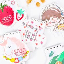 2020 Hot Stamping Strawberry Avocado Unicorn Desk Calendar Memo Planner Plan To Do List Daily Note Desktop Calendars Weekly(China)
