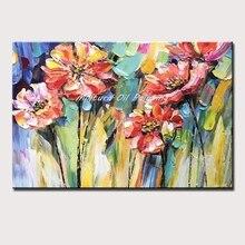 Mintura картины написанные вручную масляными красками на холсте красный цветок сливы украшение дома офисный Декор Морден Холст Искусство растение Рисование без рамки