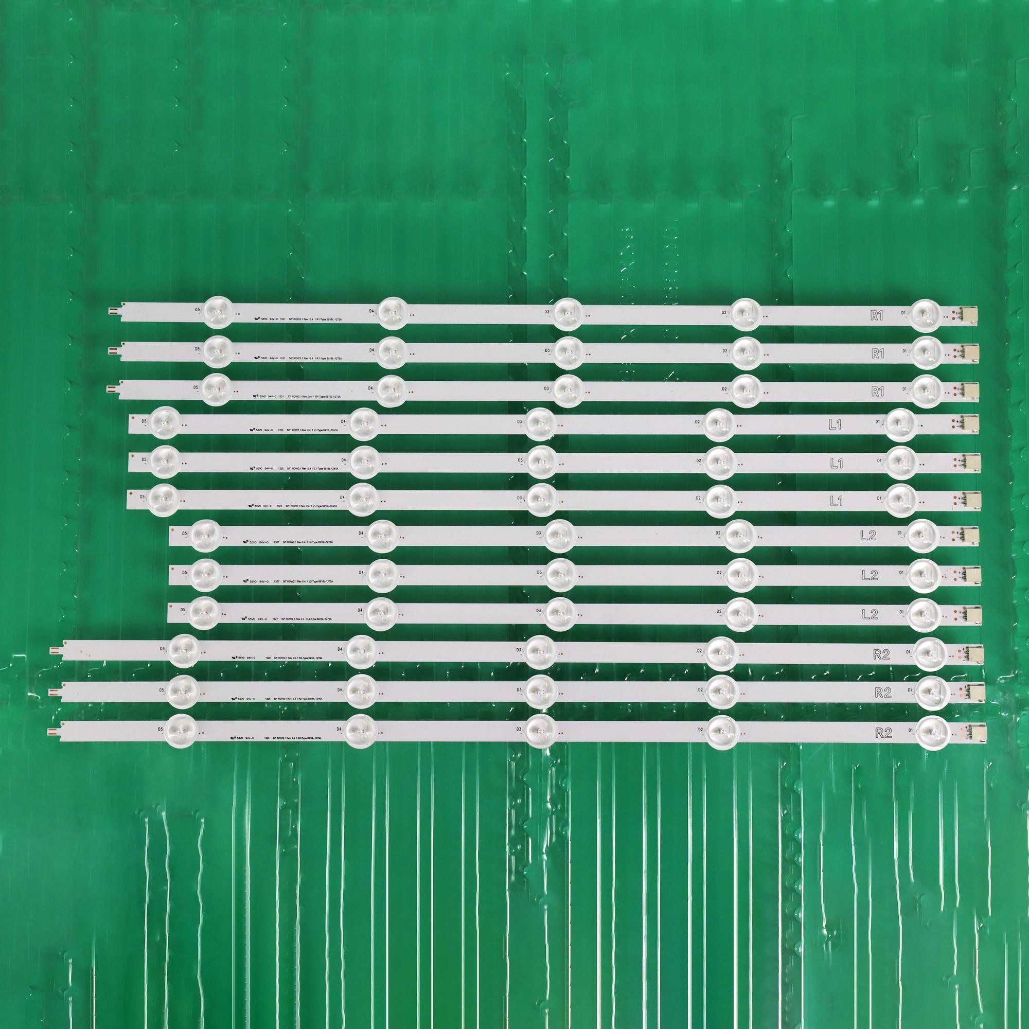 "Originale Retroilluminazione A LED striscia 10 lampada Per LG 50 ""TV 50LN5400 50LA620V 6916L-1276A 6916L-1273A 6916L-1272A 6916L-1241A 50LA6208"