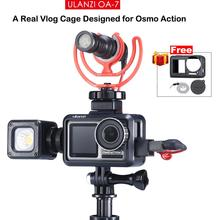 Ulanzi OA-7 Vlog Housing Protective Case for Dji Osmo Action , Dual Cold Shoe Mount Microphone/LED Photographic Video Light