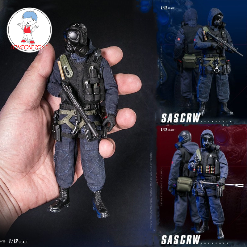 DAMTOYS 1/12 Scale British Air Mission SAS CRW Assaulter Breaker Solder Action Figure CollectionsPES001/002 Male Figure Models