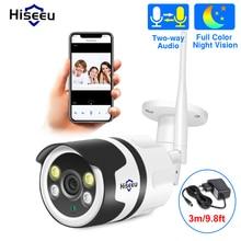 Hiseeu caméra de surveillance Bullet IP Wifi HD 720P/1080P, dispositif de sécurité domestique sans fil, étanche, avec Vision nocturne et système infrarouge