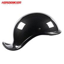 HEROBIKER New Motorcycle Helmet Open Face Retro Half Helmet