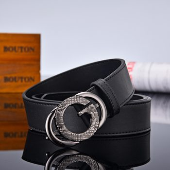 AoluolanFashion new Design G Letter buckle High Quality Cowhide Mens Woman Belts Casual Fashion Smooth Belt Width 3.4cm