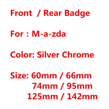 Серебро Хром ABS 3D Авто капюшон передний капот Стайлинг автомобильной решетки Эмблема Логотип или задний багажник знак Стикеры для Mazda аксес...