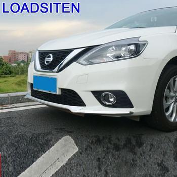 Krom dekoratif modifiye vücut ön tampon dış aksesuar kalıp etiket şerit modifikasyonu 16 17 Nissan Sylphy için