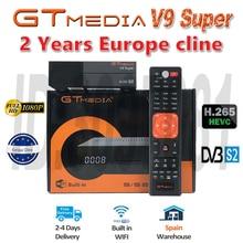 Лучший 1080P DVB-S2 GTmedia V9 супер Европа Cline Испания Португалия спутниковый ТВ приемник же GTmedia V8 Nova Freesat V9 супер