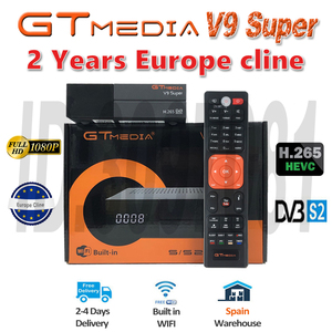 Best 1080P DVB-S2 GTmedia V9 Super Europe Cline Spain Portugal Satellite TV Receiver Same GTmedia V8 Nova Freesat V9 Super(China)