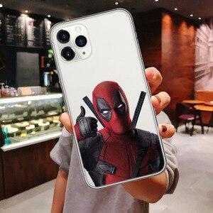 Чехол для телефона iphone 11 чудо-яд Железный человек Человек человек паук Дэдпул мягкий чехол для iPhone 11Pro MAX 6 6s 7 8 Plus XR XS MAX Xs