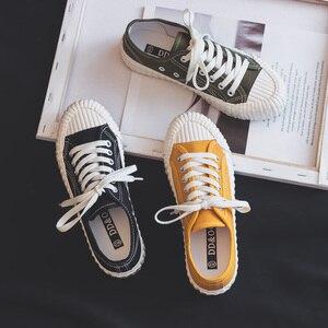 Image 3 - אופנה נשים של לגפר נעלי בד נעלי נשים לנשימה דירות שרוך גופר ספורט נעליים לנשים צבע סניקרס