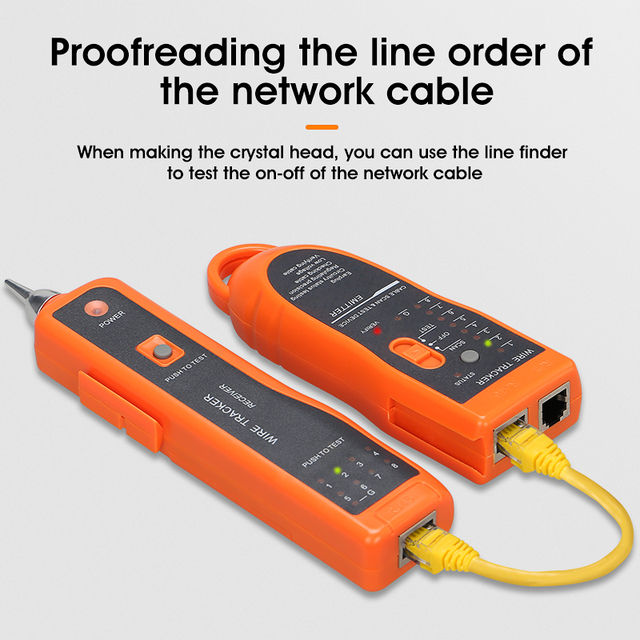 LAN Network Cable Tester Cat5 Cat6 RJ45 UTP STP Detector Line Finder Telephone Wire Tracker Tracer Diagnose Tone Tool Kit 3