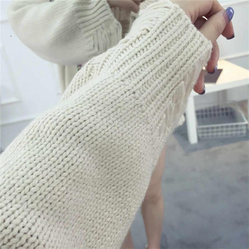 플러스 사이즈 느슨한 싱글 브레스트 가디건 2107 새로운 가을 여성 스웨터 자수 조류 구멍 니트 코트 LH1018
