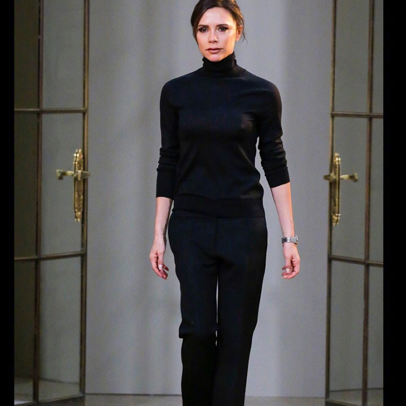 2020 New Victoria Beckham Knitted Long Sleeve Top And Long Trousers Set D1231