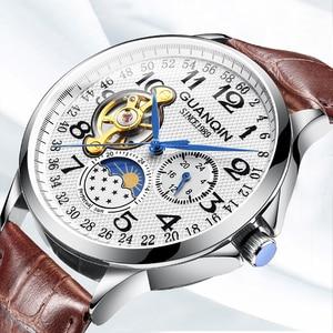Image 3 - GUANQIN 2020 relojes para hombre, automático, de negocios, Tourbillon, resistente al agua, mecánico, masculino