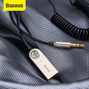 Baseus Bluetooth Transmitter Wireless Bluetooth Receiver 5.0 Car AUX 3.5mm Bluetooth Adapter Audio Cable For Speaker Headphones(China)