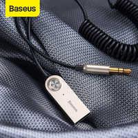 Baseus bluetooth transmissor sem fio bluetooth receptor 5.0 carro aux 3.5mm adaptador cabo de áudio para alto-falante fones de ouvido